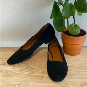 "H by Halston Black Suede Leather ""Linda"" Flats 11"
